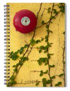 Alarm Bell And Vines Yellow Wall Spiral Notebook