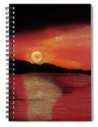 Alaska Sunset Bay Spiral Notebook