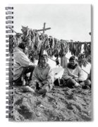 Alaska Drying Fish, C1900 Spiral Notebook
