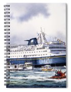 Alaska Ferry Spiral Notebook