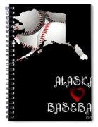 Alaska Loves Baseball Spiral Notebook