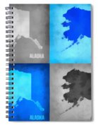 Alaska Map Art Spiral Notebook