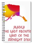 Alaska State Map Collection 2 Spiral Notebook