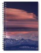 Alayos Mountains At Sunset In Sierra Nevada Spiral Notebook