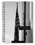 Albany Street In Black And White Spiral Notebook