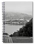 Alcatraz Island From Hyde Street In San Francisco Spiral Notebook