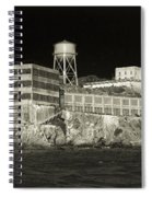 Alcatraz The Rock Sepia 1 Spiral Notebook