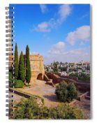 Alcazaba In Granada Spiral Notebook