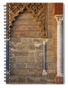 Alcazar Columns In Spain Spiral Notebook