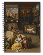 Alexander The Great Visiting The Studio Of Apelles Spiral Notebook