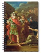 Alexander The Great Visits Diogenes At Corinth, 1787 Oil On Canvas Spiral Notebook