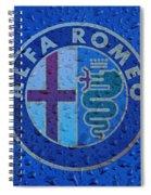 Alfa Romeo Rainy Window Visual Art Spiral Notebook