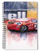 Alfa Romeo T33 B2 Le Mans 24 1968 Galli Giunti Spiral Notebook