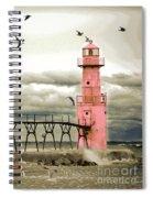 Algoma Pierhead Lighthouse Spiral Notebook