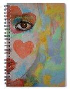 Queen Of Hearts Spiral Notebook