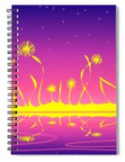Alien Fire Flowers Spiral Notebook