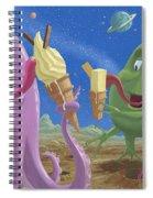 Alien Ice Cream Spiral Notebook