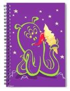 Alien Ice Cream -vector Version Spiral Notebook