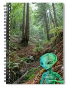 Alien In Redwood Forest Spiral Notebook