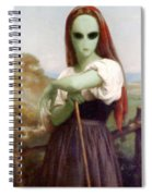 Alien Shepherdess Spiral Notebook