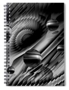 Alignment Of The Planets Bw Spiral Notebook