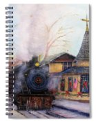 All Aboard At The New Hope Train Station Spiral Notebook