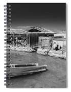 All Aboard Black And White Spiral Notebook