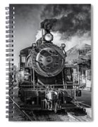 All Aboard Bw Spiral Notebook