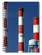 All American Industry Smokestacks Spiral Notebook