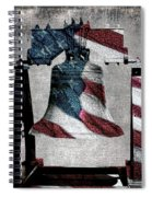 All American Liberty Bell Art_denim Spiral Notebook