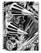 All Chrome Chopper Spiral Notebook