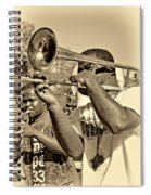 All That Jazz Sepia Spiral Notebook