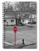 All Way Stop Spiral Notebook
