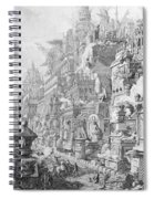 Allegorical Frontispiece Of Rome And Its History From Le Antichita Romane  Spiral Notebook