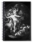Allegory Of America Spiral Notebook