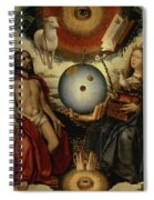 Allegory Of Christianity Oil On Panel Spiral Notebook
