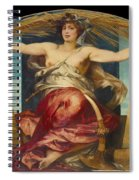 Allegory Of Religious And Profane Painting  Spiral Notebook