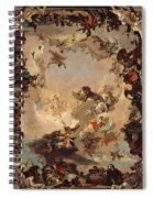 Allegory Of The Planets And Continents Spiral Notebook
