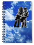 Allen And Steve In Clouds Spiral Notebook