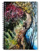 Alley By The Lake Spiral Notebook