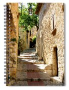 Alley In Eze, France Spiral Notebook