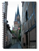 Alley In Schleswig - Germany Spiral Notebook