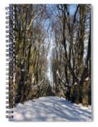 Alley In The Snow Spiral Notebook
