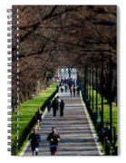 Alley Of Trees With Runners And Joggers Spiral Notebook