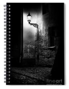 Alley Of Prague In Black And White Spiral Notebook