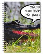 Alligator Anniversary Card Spiral Notebook