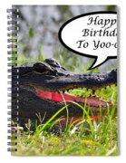Alligator Birthday Card Spiral Notebook