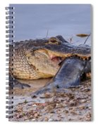Alligator With A Fish Spiral Notebook