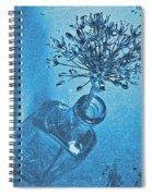 Allium Cyanotype Spiral Notebook