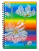 Almond Branch In The Spectrum Spiral Notebook